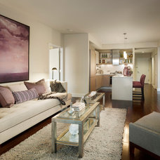 Contemporary Family Room by Gacek Design Group, Inc.