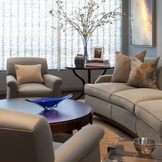 Contemporary Family Room by Kendall Wilkinson Design