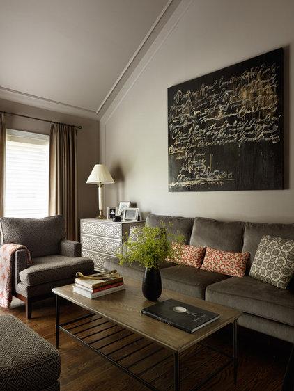 Contemporary Family Room by kim scodro interiors