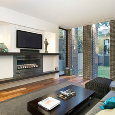 Contemporary Family Room by the evolve group