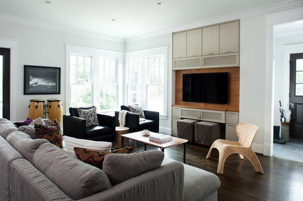 Contemporary Family Room by TerraCotta Properties