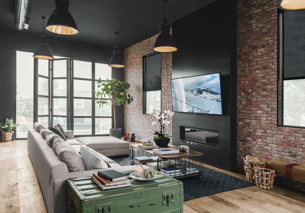 Industrial Sala de estar by Andrew Heiser
