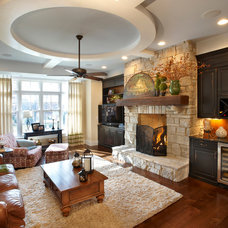 Traditional Family Room by Curtiss W. Byrne Architect, LLC
