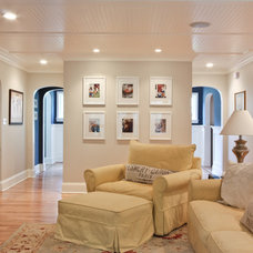 Traditional Family Room by Michael Robert Construction