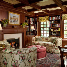 Traditional Family Room by Diane Burgoyne Interiors