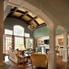 Traditional Family Room by Diane Burgoyne Interiors