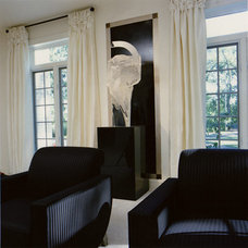 Contemporary Family Room by Interiors by Mary Susan