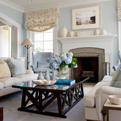 traditional family room by Plum Interiors