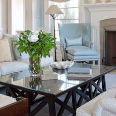 Traditional Family Room by Eileen Marcuvitz Plum Interiors