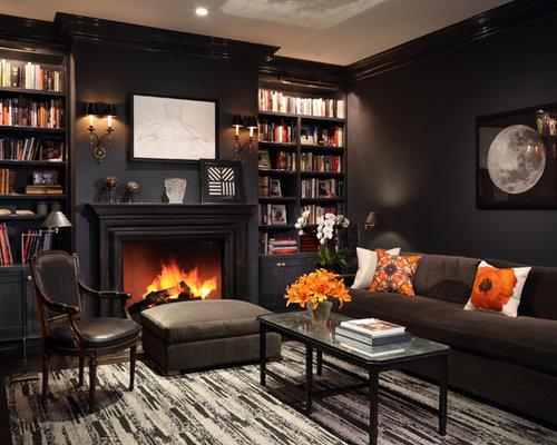 Black Living Room   Houzz