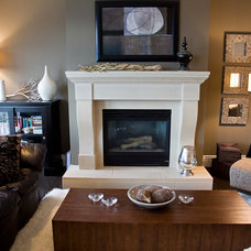 Contemporary Family Room by Done to the Nines