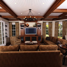 Traditional Family Room by Daniel Contelmo Architects