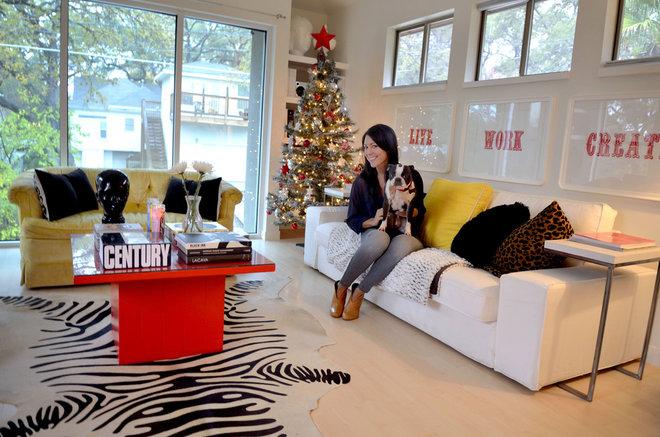 Contemporary Family Room by Kara Mosher