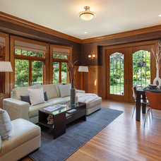 Traditional Family Room by Fradkin Fine Construction, Inc.