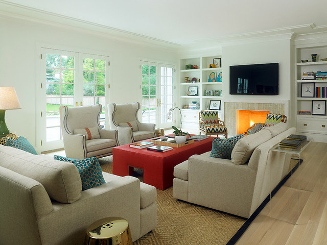 Contemporary Living Room by Reynolds Architecture- Design & Construction