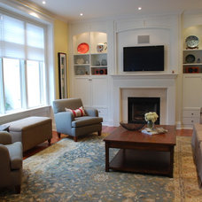 Traditional Family Room by Kate Davidson Design Inc