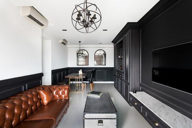Traditional Family Room by Mesh Werk Studio