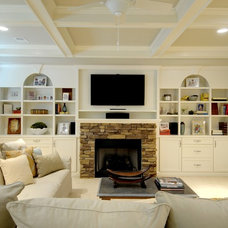 traditional basement by Pat Shankle