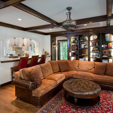 Traditional Family Room by RWA Architects