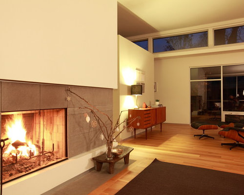 Mid Century Modern Fireplaces mid century modern fireplace | houzz