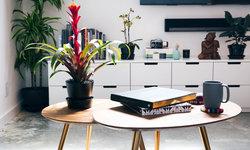 Clean Modern Media Wall in Living Room