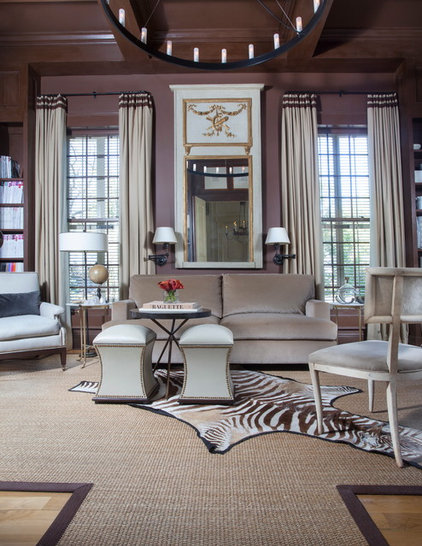 Traditional Family Room by TY LARKINS INTERIORS