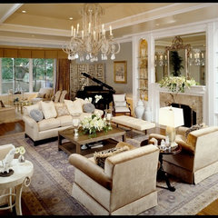 traditional family room by Reaume Construction & Design