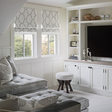 Transitional Family Room by Sophie Metz Design