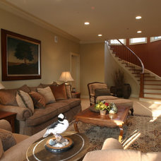 Traditional Family Room by Bergeron Custom Homes, LLC