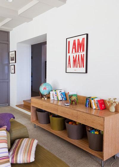 Contemporary Family Room by Natasha Barrault Design