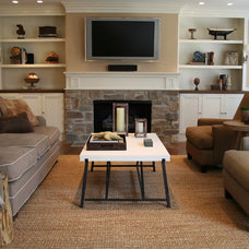Traditional Family Room by CMR Interiors & Design Consultations Inc.