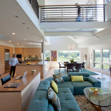 Contemporary Family Room by Wright-Ryan Homes