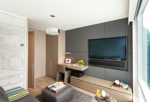 Contemporary Family Room by Gaile Guevara