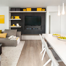 Contemporary Family Room by Gaile Guevara