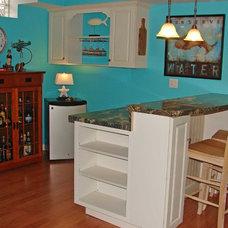 Eclectic Family Room Coastal Cottage Basement Redo