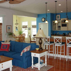Eclectic Family Room Coastal Cottage