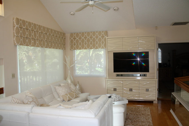 Contemporary Family Room by Orchid Interiors Group Inc