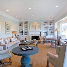 traditional family room by DTM INTERIORS