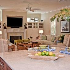 Beach Style Family Room by Jane Roseborough Interiors