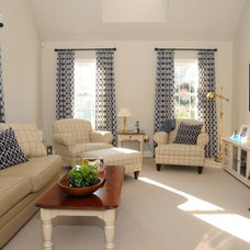 Traditional Family Room by Linda Holt Interiors