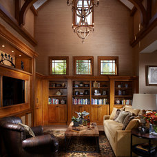 Traditional Family Room by Studio M Interior Design
