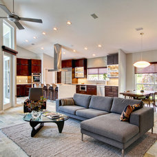 Contemporary Family Room by JANSEN QUALITY CONSTRUCTION
