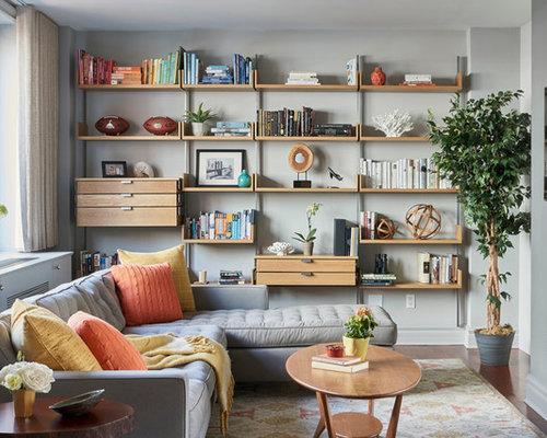 Wall Shelves Family Room Ideas & Photos | Houzz
