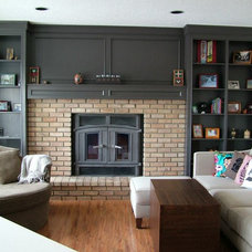 Traditional Family Room by Rochelle Lynne Design