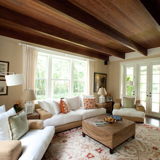 Inspiration for a rustic family room remodel in Miami