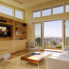 Contemporary Family Room by Design Line Construction, Inc.