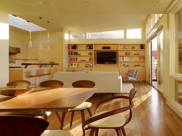 Contemporary Family Room by Design Line Construction, Inc.