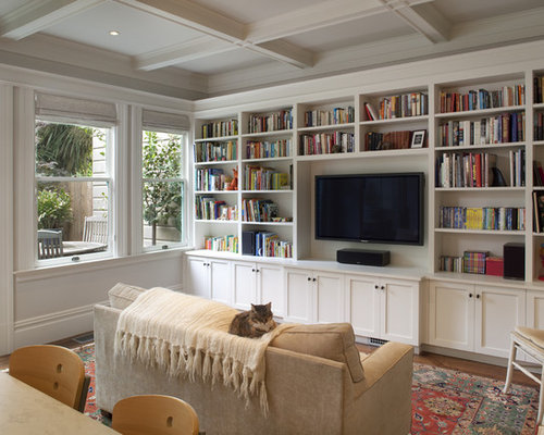 Built In Library | Houzz