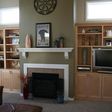 Traditional Family Room by The Cabinet Shoppe