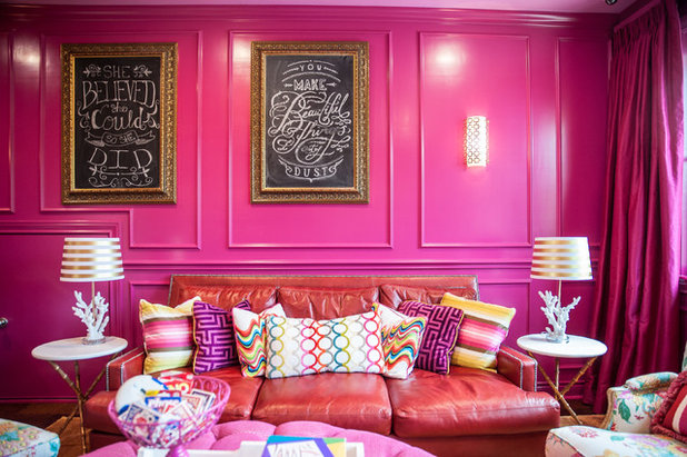 Room of the Day: A Game Room That\'s Pretty in Pink